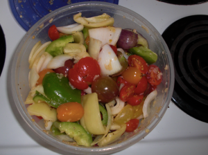 marinating veggies